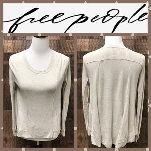 Free People Cream Sweater Small